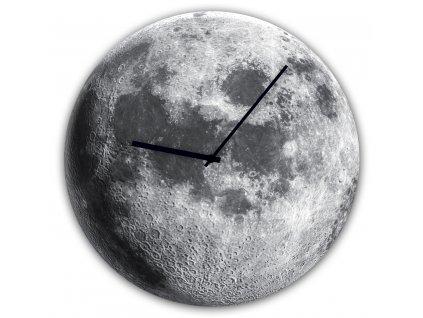 Skleněné nástěnné hodiny MOON Ø 30 cm Styler