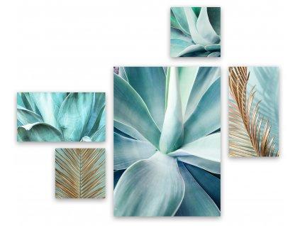Obraz na na plátně MINT AGAVE vícedílný 70x150 cm Styler