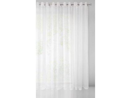Dekorační záclona s kroužky VEERA bílá 350x250 cm MyBestHome