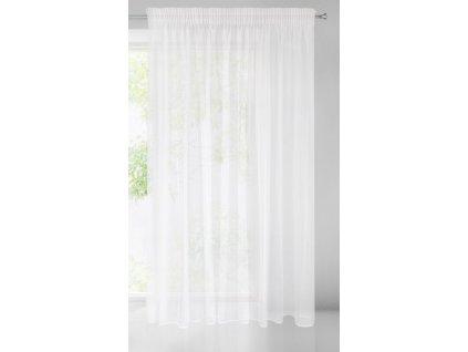 Dekorační záclona s řasící páskou se zadním tunýlkem VEERA bílá 350x250 cm MyBestHome