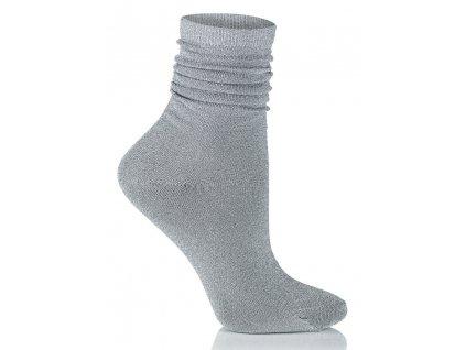 GLAMOUR SOCKS dámské ponožky s lurexem, stříbrná KNITTEX