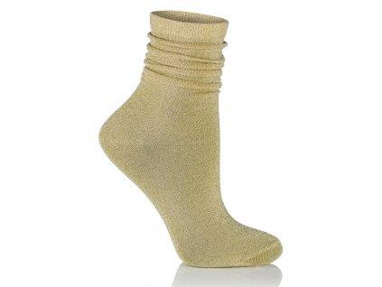 GLAMOUR SOCKS dámské ponožky s lurexem, zlatá KNITTEX