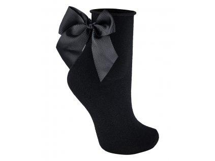 GLAMOUR SOCKS dámské bavlněné ponožky s mašličkou KNITTEX