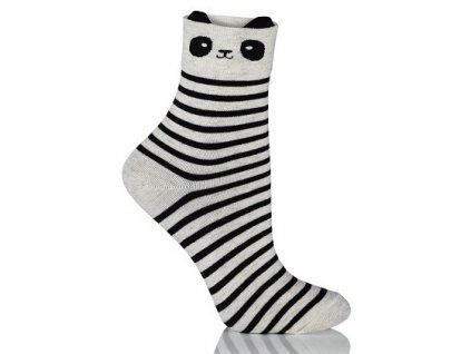 FANCY SOCKS dámské bavlněné ponožky, panda, KNITTEX