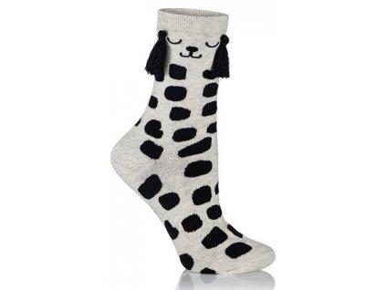 FANCY SOCKS dámské bavlněné ponožky, pejsek, KNITTEX