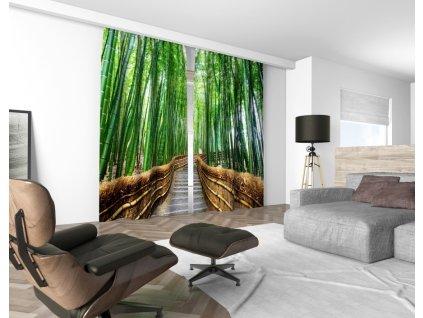 3D dekorační závěs 507V BAMBOO FOREST 2x 160x250 cm set 2 kusy MyBestHome