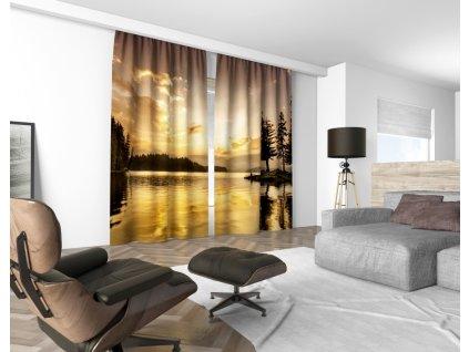 3D dekorační závěs 508V GOLD EVENING 2x 160x250 cm set 2 kusy MyBestHome