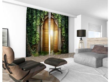 3D dekorační závěs 501V MYSTERY 2x 160x250 cm set 2 kusy MyBestHome