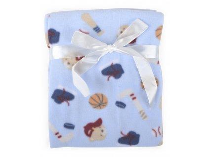 Dětská flísová deka KID modrá 76x92 cm Bobobaby