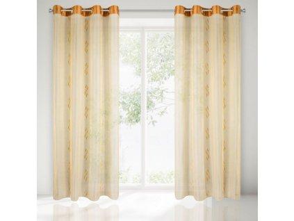 Dekorační vzorovaná záclona HILLARY 140x250 cm MyBestHome