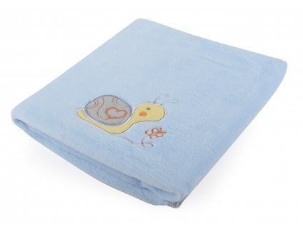 Dětská deka s aplikací DITA II. modrá 80x90 cm Mybesthome