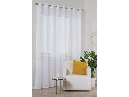 Dekorační záclona TRESSE bílá s kroužky 285x250 cm MyBestHome