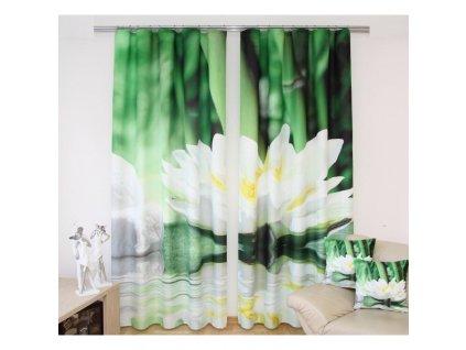 3D dekorační závěs 218 KVĚT LEKNÍNU 2x160x250 cm MyBestHome