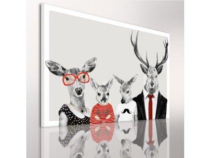 Obraz na plátně DEER FAMILY G různé rozměry Ludesign