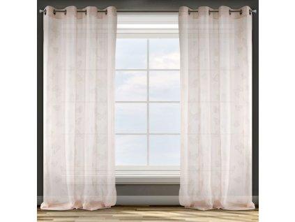 Dekorační vzorovaná záclona FLY růžová 140x250 cm MyBestHome
