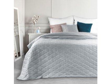 Přehoz na postel RABAT 220x240 cm stříbrná Mybesthome