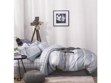 Povlečení LAURA 100% saténová bavlna 1x 140x200 cm, 1x povlak 70x80 cm MyBestHome