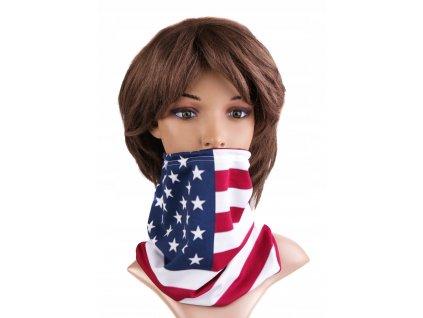 Multifunkční stylový šál - komín 28 - 31x26 cm, USA, Mybesthome