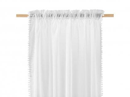 Dekorační záclona SPIRIT bílá s řasící páskou 140x250 cm MyBestHome