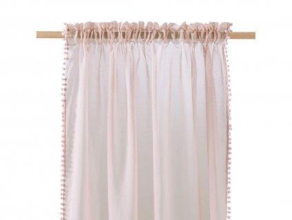Dekorační záclona SPIRIT růžová s řasící páskou 140x250 cm MyBestHome