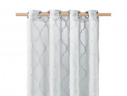 Dekorační záclona MADRID šedá s kroužky 140x250 cm MyBestHome