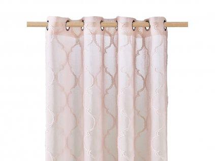 Dekorační záclona MADRID růžová s kroužky 140x250 cm MyBestHome