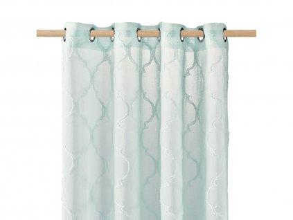 Dekorační záclona MADRID mátová s kroužky 140x250 cm MyBestHome