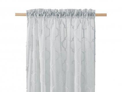 Dekorační záclona MADRID šedá s řasící páskou 140x250 cm MyBestHome