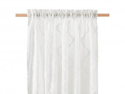 Dekorační záclona MADRID krémová s řasící páskou 140x250 cm MyBestHome