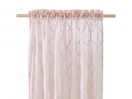 Dekorační záclona MADRID růžová s řasící páskou 140x250 cm MyBestHome