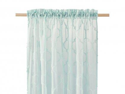 Dekorační záclona MADRID mátová s řasící páskou 140x250 cm MyBestHome
