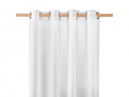 Dekorační záclona SOLEDA bílá s kroužky 140x250 cm MyBestHome
