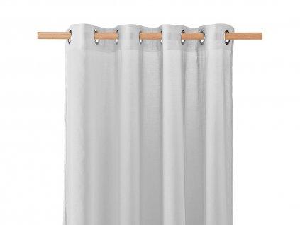 Dekorační záclona SOLEDA šedá s kroužky 140x250 cm MyBestHome