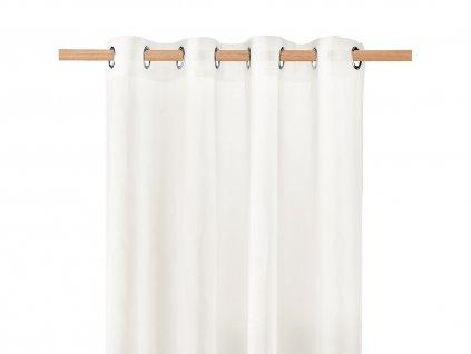 Dekorační záclona SOLEDA smetanová s kroužky 140x250 cm MyBestHome