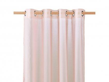 Dekorační záclona SOLEDA růžová s kroužky 140x250 cm MyBestHome