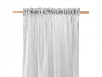 Dekorační záclona SOLEDA šedá s řasící páskou 140x250 cm MyBestHome