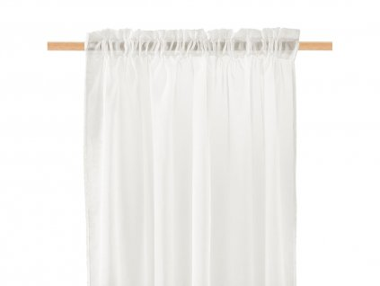 Dekorační záclona SOLEDA smetanová s řasící páskou 140x250 cm MyBestHome