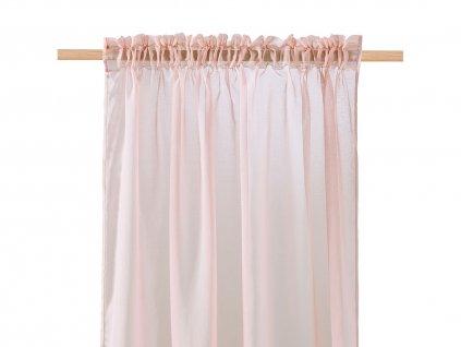 Dekorační záclona SOLEDA růžová s řasící páskou 140x250 cm MyBestHome