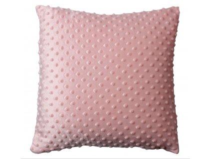 olštář BOBO MINKY růžová 40x40 cm Mybesthome