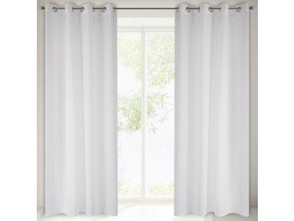 Dekorační vzorovaná záclona ZIRKONIUM bílá 140x250 cm MyBestHome