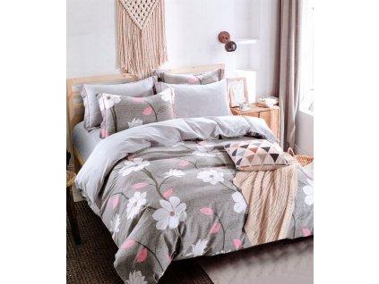 Povlečení AILA 100% saténová bavlna 1x 200x220 cm, 2x povlak 70x80 cm francouzské povlečení MyBestHome