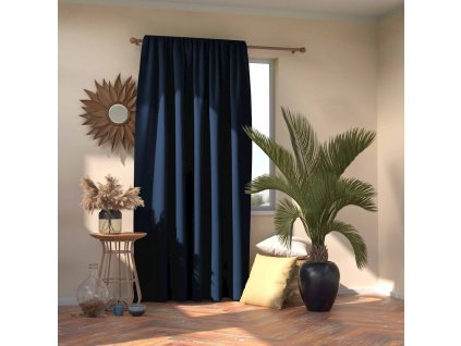 Dekorační závěs s řasící páskou zatemňující MONACO - BLACKOUT 140x245 cm, indigo, MyBestHome