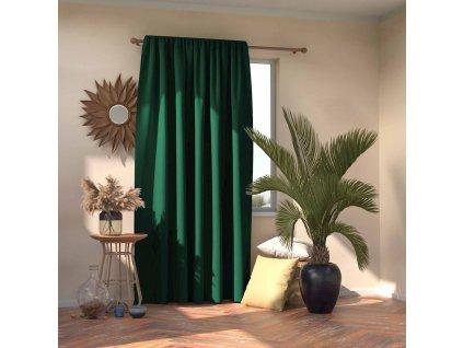 Dekorační závěs s řasící páskou zatemňující MONACO - BLACKOUT 140x245 cm, zelená, MyBestHome