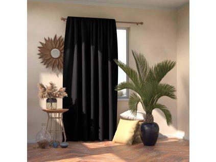 Dekorační závěs s řasící páskou zatemňující MONACO - BLACKOUT 140x245 cm, černá, MyBestHome