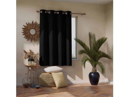 Dekorační krátký závěs zatemňující ANDORRA - BLACKOUT 140x175 cm, černá, MyBestHome