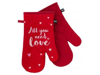 Kuchyňské bavlněné rukavice - chňapky ADORE červená, 100% bavlna 19x30 cm Essex