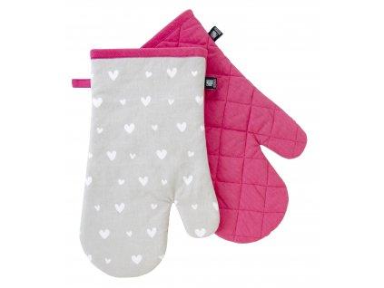 Kuchyňské bavlněné rukavice - chňapky ADORE šedá, 100% bavlna 19x30 cm Essex
