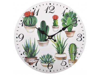 Nástěnné hodiny CACTUSINO Ø 34 cm Mybesthome