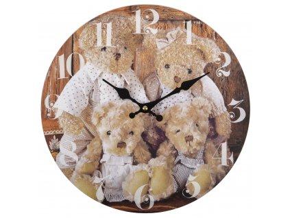 Nástěnné hodiny BEAR FAMILY Ø 34 cm Mybesthome