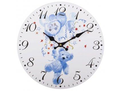Nástěnné hodiny BLUE BEAR Ø 34 cm Mybesthome